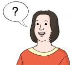 Frau mit Sprachblase