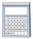 Ein Kalenderblatt