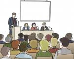 Menschen auf einer Tagung