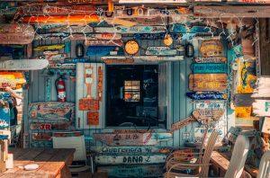 Café-Hütte auf dem Bahamas