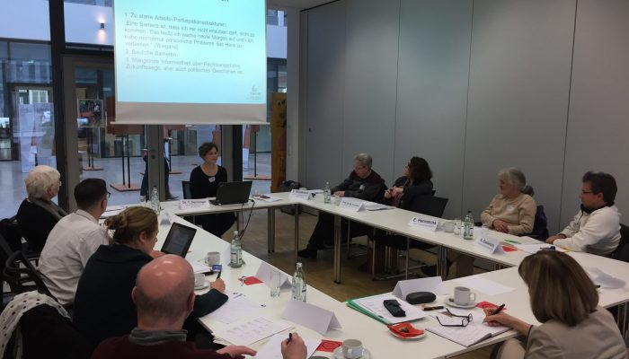 """Partizipation-Auftakt: Die Auftaktsitzung des Projektbeirats zum """"Index für Partizipation"""" fand im Herbst 2016 statt."""