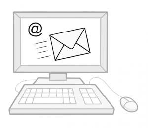 Computer mit email Programm
